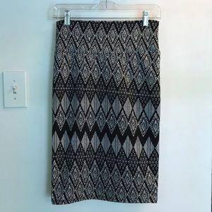 Lularoe Cassie Stretchy Pencil Skirt